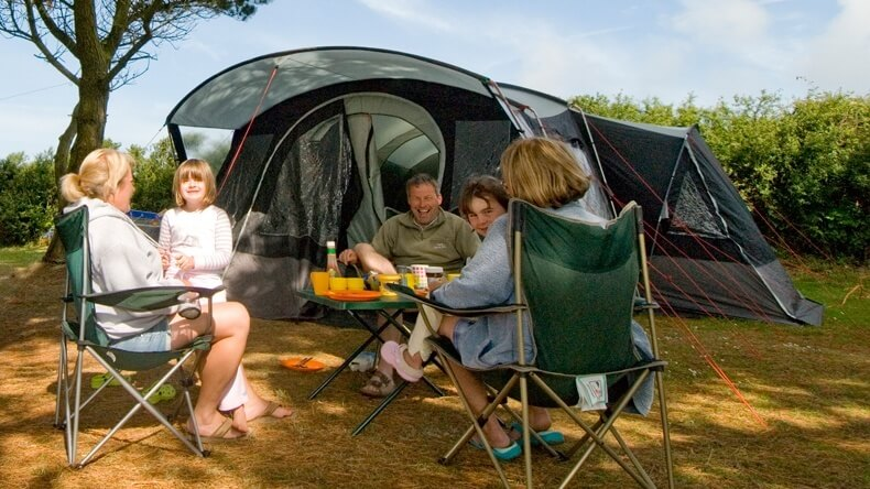 Golden Coast Electric Tent Pitch